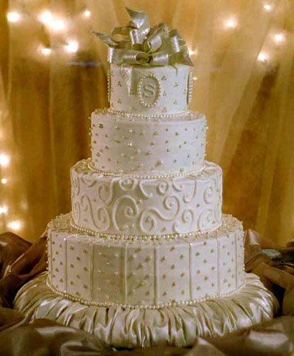 beautiful edible pearl cake designs