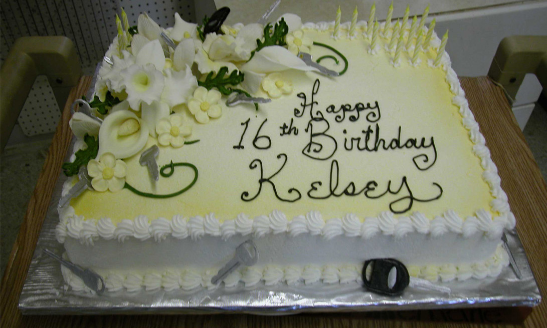 Kelsey's 16th Birthday Cake. A car of her own is the dream - but,