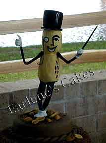 Mr Peanut in icing