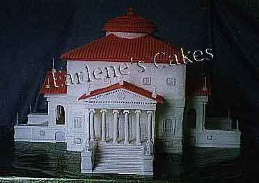 Villa Rotunda in cake and icing