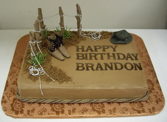 Happy Birthday Cake Brandon
