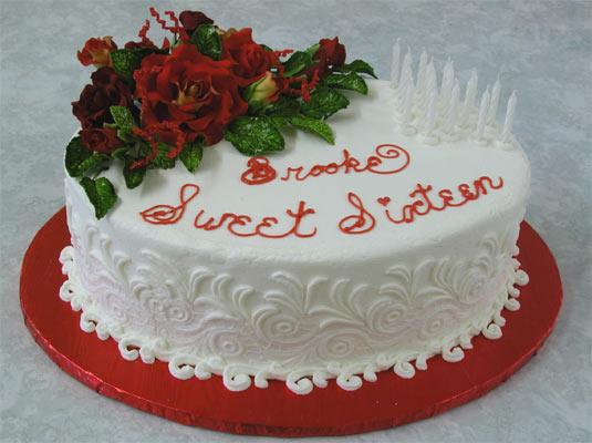 Brooke's 16th Birthday Cake