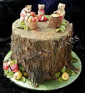 Camping Tree Stump Cake
