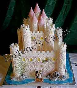 Edible Castles In Cake And Icing