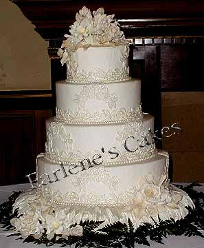 Lace Design Wedding Cake : More Lace Design Wedding Cakes