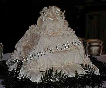Quilted drapes cake