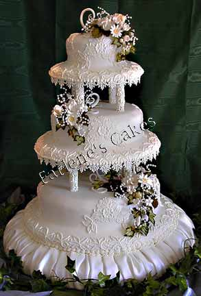More Lace Design Wedding Cakes